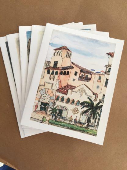 Set of 5 George Fox notecards